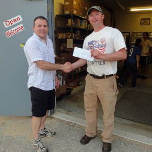 Stonewall delivery to Food Pantry May 2013