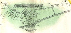 Durham Village 1856 Map