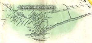 Durham Village 1856 Map
