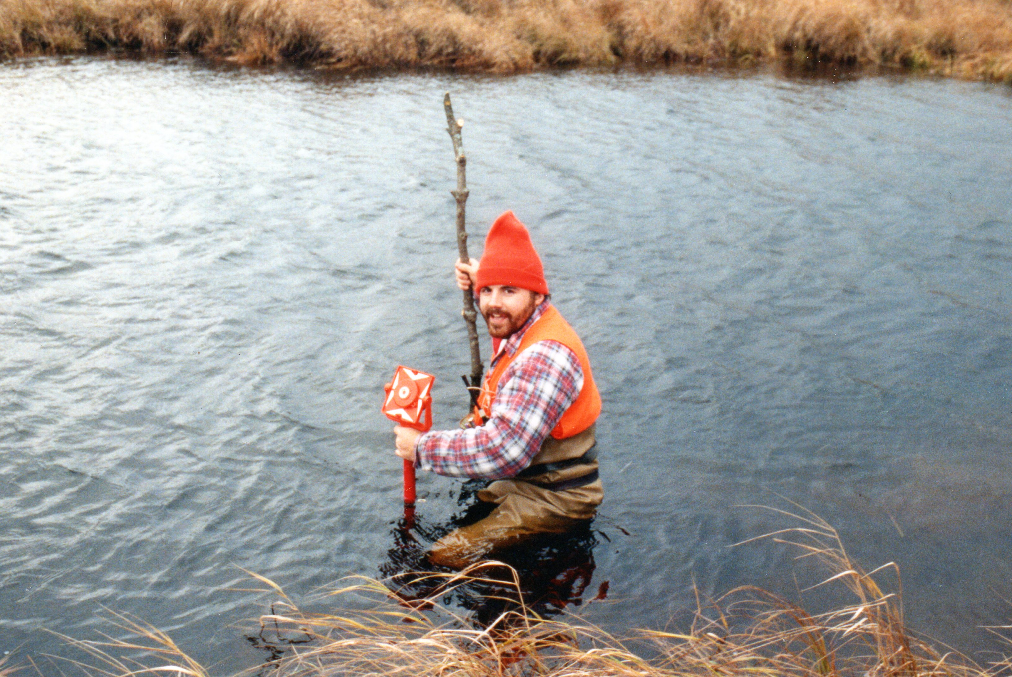 Ray surveying Creek ~ 1992